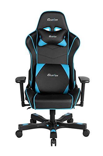 Clutch Chairz Crank Series Delta Black/White Gaming Chair (Black/Blue)