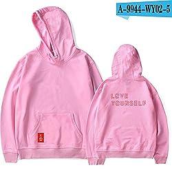 Bts Love Yourself Answer Hoodies Bts World Tour Hoodies Women Print Kpop Long Sleeve Sweatshirts Pink1 Xxxl