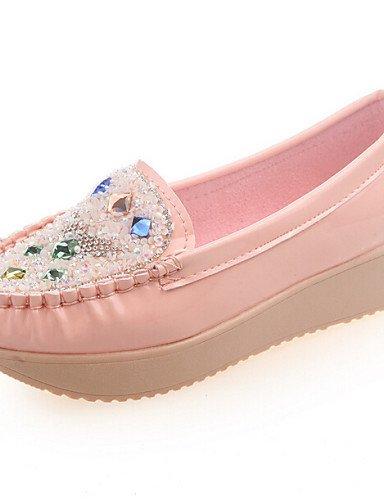 us8 Azul Blanco Black Mujer Negro Zq Pink Rosa Plataforma Zapatos Cn39 Eu39 us8 De Semicuero Casual Mocasines Uk6 SnqTC