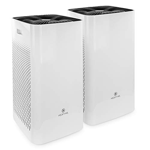 Medify MA-112 V2.0 The Only 950 CADR H13 HEPA Air Purifier | Covers up to 5,000 sq ft every hour | Dual air intake with…