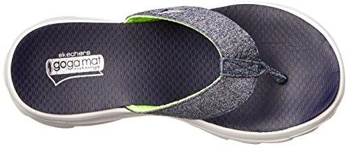 Skechers diseño de bosque de Move para mujer Go Solstice antideslizante azul marino en tejidos Flip Flop sándalo azul - azul marino