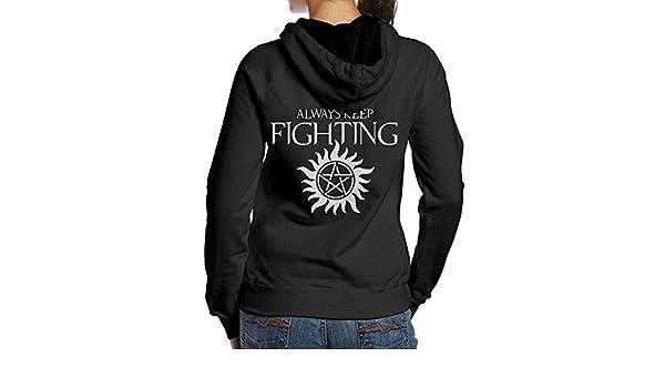 Amazon com: WWTBBJ-B Always Keep Fighting Supernatural Adult Women's