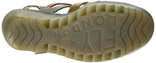 Fly London Ygor, Women's Sandals Camel/Petrol/Dk.brown/Red