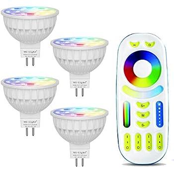 Amazon Com Mi Light Dimmable Mr16 4w Led Bulb Rgbw Ww