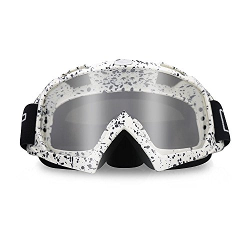 ThyWay Dustproof Outdoor Goggles for Motocross/Bike Riding Wind Skiing Winter Sports (White 1)