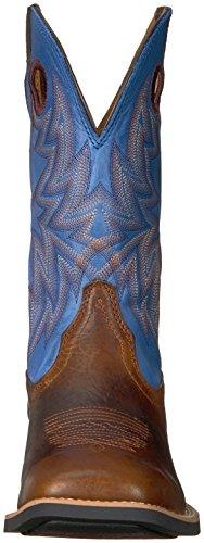 Ariat Mens Arv Cowhorse Western Cowboy Boot Bar Top Bison / Sadelkammaren Blå