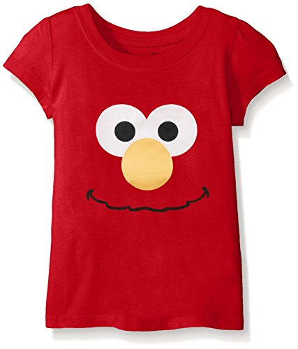 (Sesame St Toddler Girls' Short Sleeve T-Shirt Shirt, Red Cherry, 3T)