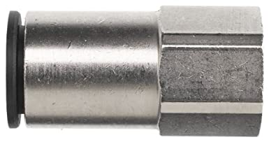 Brennan PCNY2405-08-08 Push-to-Connect Tube Fitting, PBT, Adapter, 1/2' Tube OD x 1/2' NPT Female 1/2 Tube OD x 1/2 NPT Female Brennan Industries Inc.