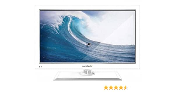 Sunstech TLEXI1662HDWT - Televisión LED de 16 pulgadas, HD Ready, DVD, color blanco: Amazon.es: Electrónica