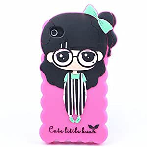 Mini - Joyland Suspender Trousers Girl Silicon Back Case for iPhone 4/4S0 , Color: White