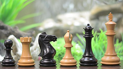 Chess Weighted Double Staunton Pieces (Chessbazaar The Staunton Series Double Weighted Chess Pieces In Ebony & Box Wood)