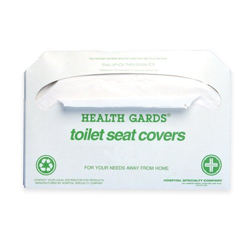 Hospeco Health Gards Toilet Seat Covers (250 Covers/Pack) (20 Packs) - BMC-HSC GREEN-5000 by Miller Supply, Inc.