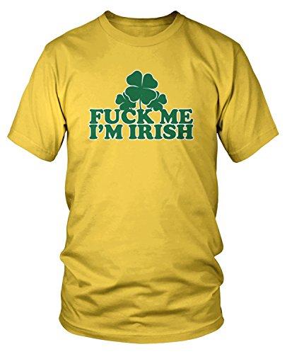 (Amdesco Men's Fuck Me I'm Irish T-Shirt, Yellow XL)