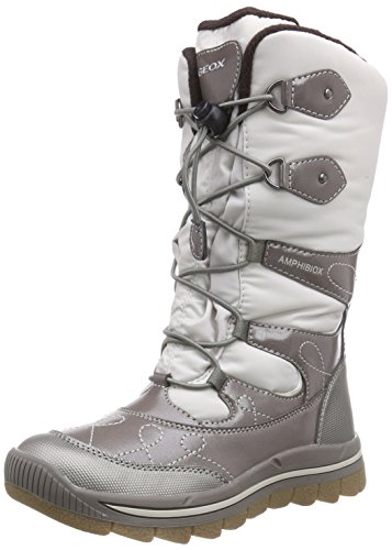 Geox J Overland Girl ABX 1 Boot (Toddler/Little Kid/Big Kid), Beige - Beige (C1097OFF WHITE/TAUPE), 5.5 UK M Big Kid by Geox