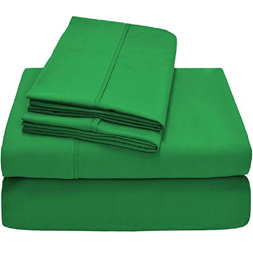 Ivy Union Premium Ultra-Soft Microfiber Sheet Set Twin Extra Long, Twin XL (Palm - Ivy Green With