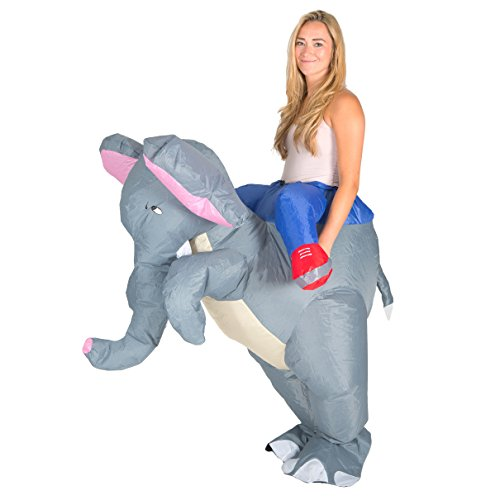 Bodysocks - Inflatable Elephant Piggyback Blow Up Safari Animal Adult Fancy Dress Costume - Safari Outfits For Adults