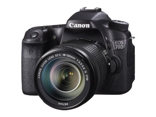 - Canon EOS 70D Digital SLR Camera with 18-135mm STM Lens