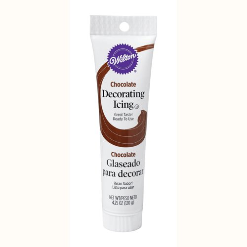 Wilton CHOCOLATE BROWN Icing Tube Ready To Use Cake Cupcake Cookie Decorating (Use Decorator Icing)