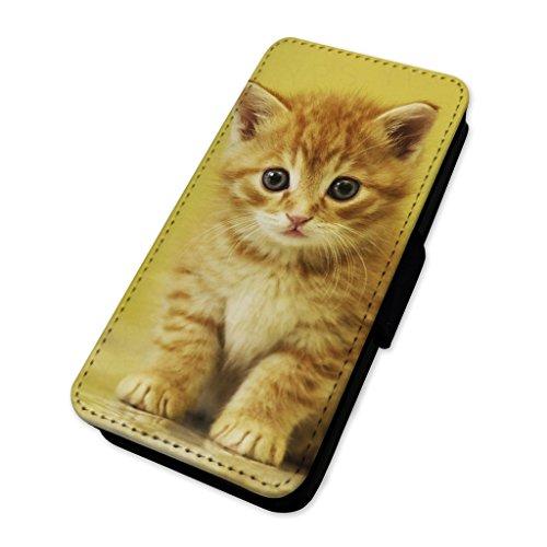 Adorabile gattino Ginger–Custodia ad aletta in pelle copertura di carta Apple Iphone 7 Plus
