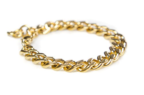 Benevolence LA Gold Bracelets for Women: Cuban Curb Chains in 14k Gold Dipped Curb Chain or Rose Gold for Charity