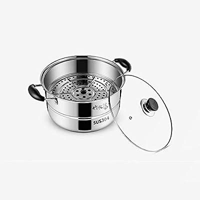 FF Cocina de inducción de la Estufa de Gas del pote del Acero Inoxidable de los 28cm 304 del hogar del Vapor Tres