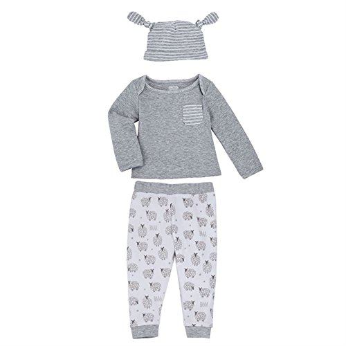 - Mud Pie Counting Sheep Gray Take-Me-Home Top, Pants & Hat Set 1012201 (0-3 Months)