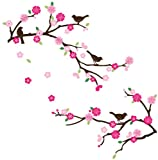 Blossoms and Branches Decorative Peel & Stick Wall Art Sticker Decals Picture