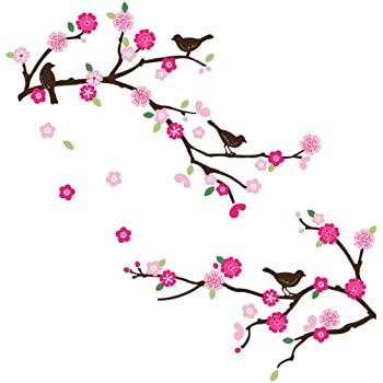Blossoms And Branches Decorative Peel U0026 Stick Wall Art Sticker Decals