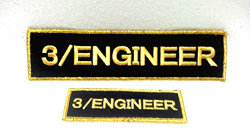 Atlantic Maritime -Marine Vintage Aquatic Ship ''3/ENGINEER'' Name Tapes from Atlantic