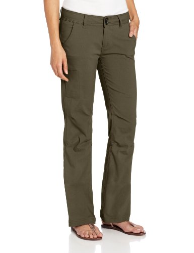prAna Women's Short Inseam Halle Pant, 6, Cargo Green