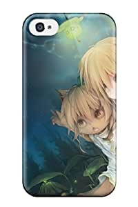 New Snap-on DanRobertse Skin Case Cover Compatible With Iphone 4/4s- Girls Animal Ears Blondedoggirl Fang Forest Kukki Manahui Night Original Sky Stars