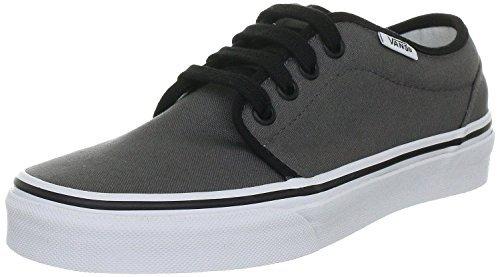 Vans 106 Vulcanized Skate Shoes (9.5 B(M) US Women/8 D(M) US Men, Pewter/Black)