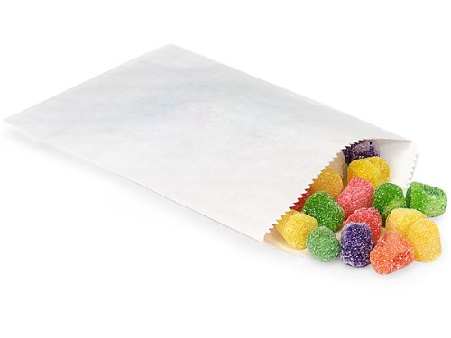 Pack Of 1000, 1/4 Lb 4.75 X 6.75'' Solid White Paper Candy Bags For Nuts, Candies Made In USA by Generic