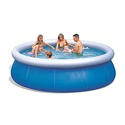 Rindasr Family Adult Children Large Inflatable Swimming Pool, Parent-Child Interactive Entertainment PVC 77.9 inch Blue Round Portable Pool with Electric Pump: Home & Kitchen