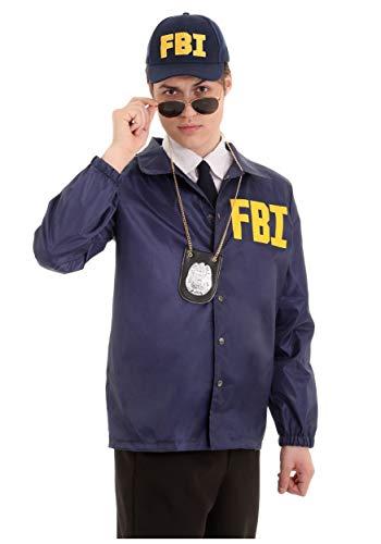 Adult FBI Costume Standard Blue