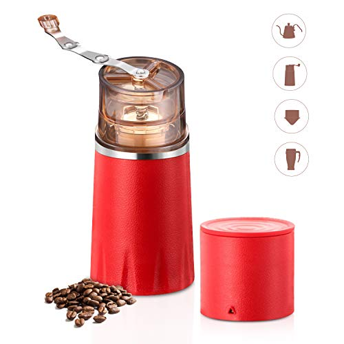Manual Coffee Grinder, Multifunctional Portable Coffee Machin All-in one Coffee Cup Manual Coffee Maker for Home Office Travel Camping Outdoors Use