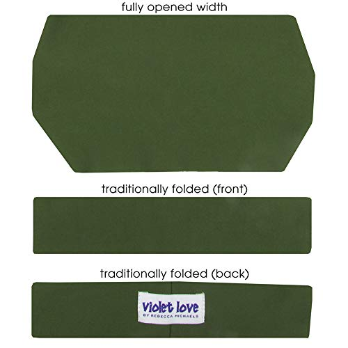 Rebecca Michaels Abella Violet Love Signature Couture Headband, Olive Green, Adult One Size ()