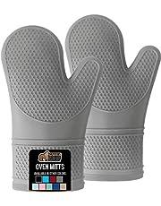 Gorilla Grip The Original Non-Slip Silicone Oven Mitt, Softest and Most Flexible, FDA Approved, 446 Degree Heat Resistant.