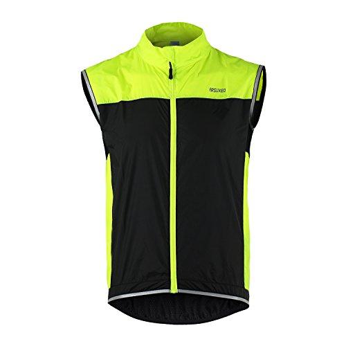 余計な静脈フローティングTofernユニセックス防風軽量反射安全ノースリーブベストfor Cycling Bike Sports Running