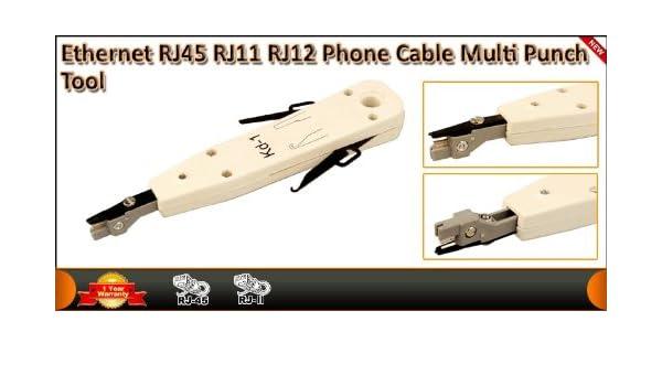 Ethernet RJ45 RJ11 RJ12 Cable de teléfono Cable multipar: Amazon.es: Electrónica