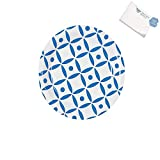 Bargain World Blue Geometric Dessert Plates (With Sticky Notes)