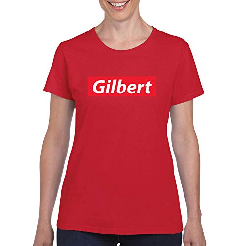 Red Box Logo Gilbert City Pride Womens Graphic T-Shirt, Red, -