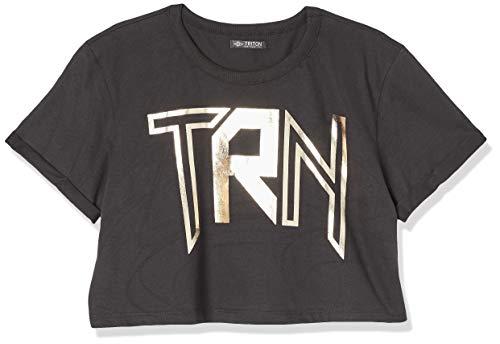 Triton Camiseta Estampada Feminino, M, Preto