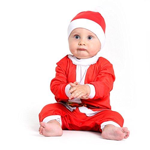 Fantasia Macacão Papai Noel Bebê Sulamericana Fantasias Vermelho/Branco G-9 Meses