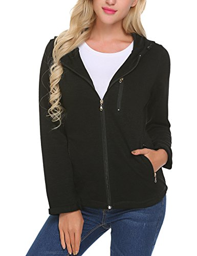 Front Pocket Zip Hoodie - Unibelle Lightweight Active Performance Full-Zip Hoodie Jacket
