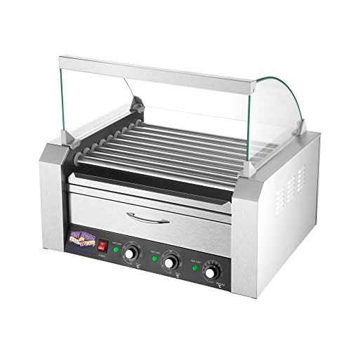 Great Northern Popcorn Company 83-DT5545 5200 Great Northern 9 Roller Grilling Machine | Bun Warmer | Cover | 24 Hot Dogs, Default