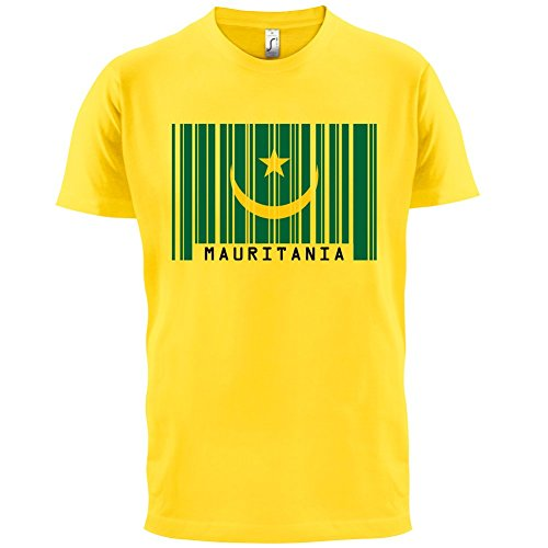 Mauritania / Mauretanien Barcode Flagge - Herren T-Shirt - Gelb - S