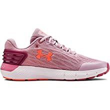 Under Armour Girls' Grade School Charged Rogue Sneaker, Pink Fog (603)/White, 4.5