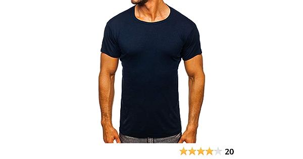 BOLF Hombre Camiseta de Manga Corta Básica Escote Redondo ...