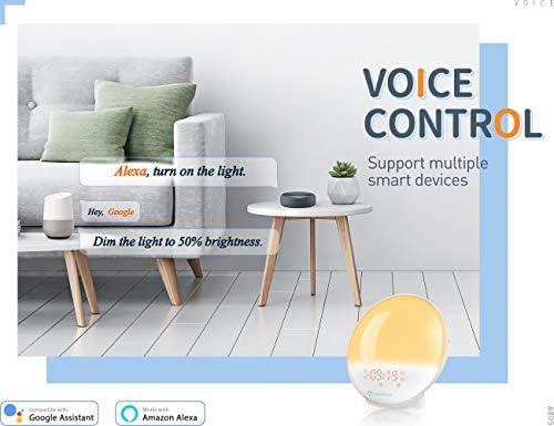 HeimVision Sunrise Alarm Clock Smart Wake up Light Sleep Aid Digital Alarm Clock with Sunset
